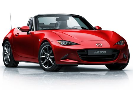 Front view of the new Mazda MX-5
