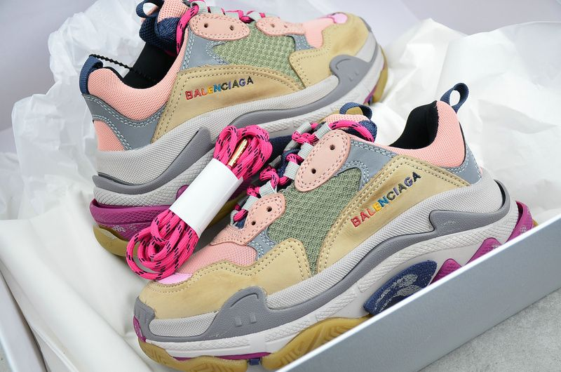 Balenciaga Triple S Trainer Sneakers Shoes Silt Red Rose