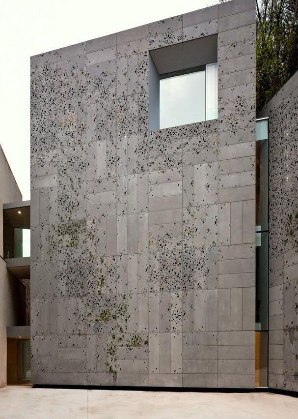 Revestimiento de fachada aluminio de chapa perforado for Fachada aluminio