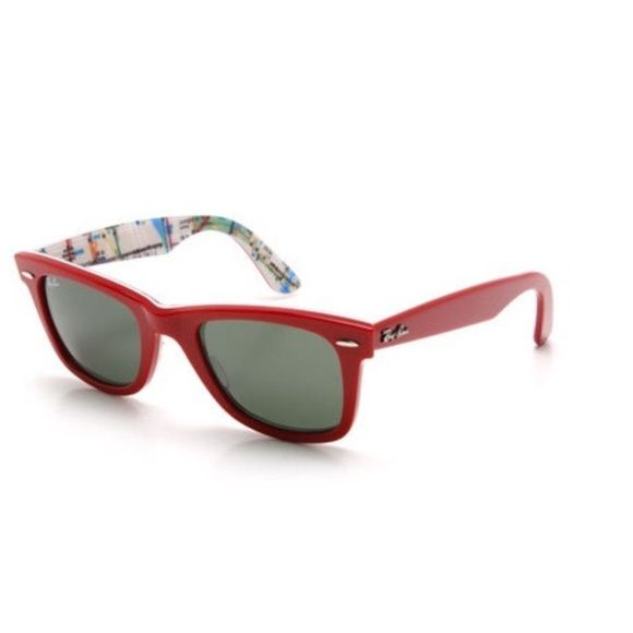 1db4906f6f07c Coming soon Ray Ban Wayfarer on New York Street Map Sunglasses RB2140 Red  sunglasses are simply the most recognizable style in the history of  sunglasses.