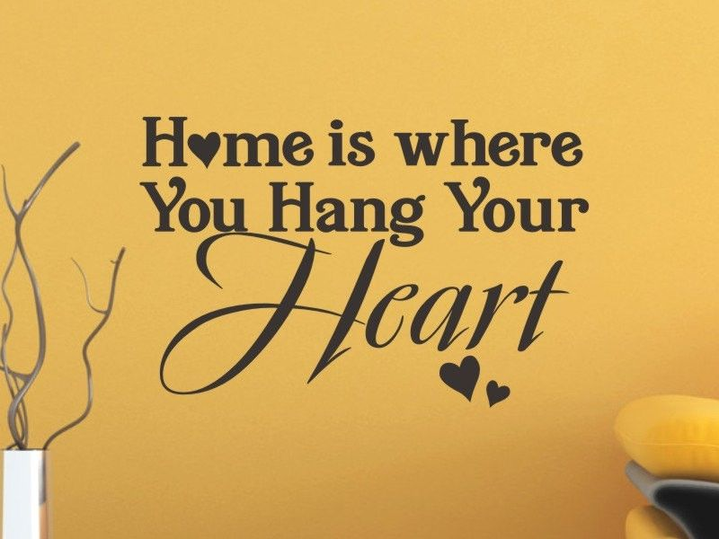 Home Is Where You Hang Your Heart Wall Decal >> Wall Decals - Wall ...