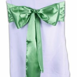 Green Satin Chair Sashes Pack of 10