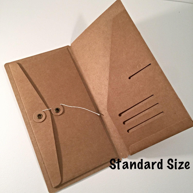 Kraft File Folder With Envelope Insert For Traveler S Notebook