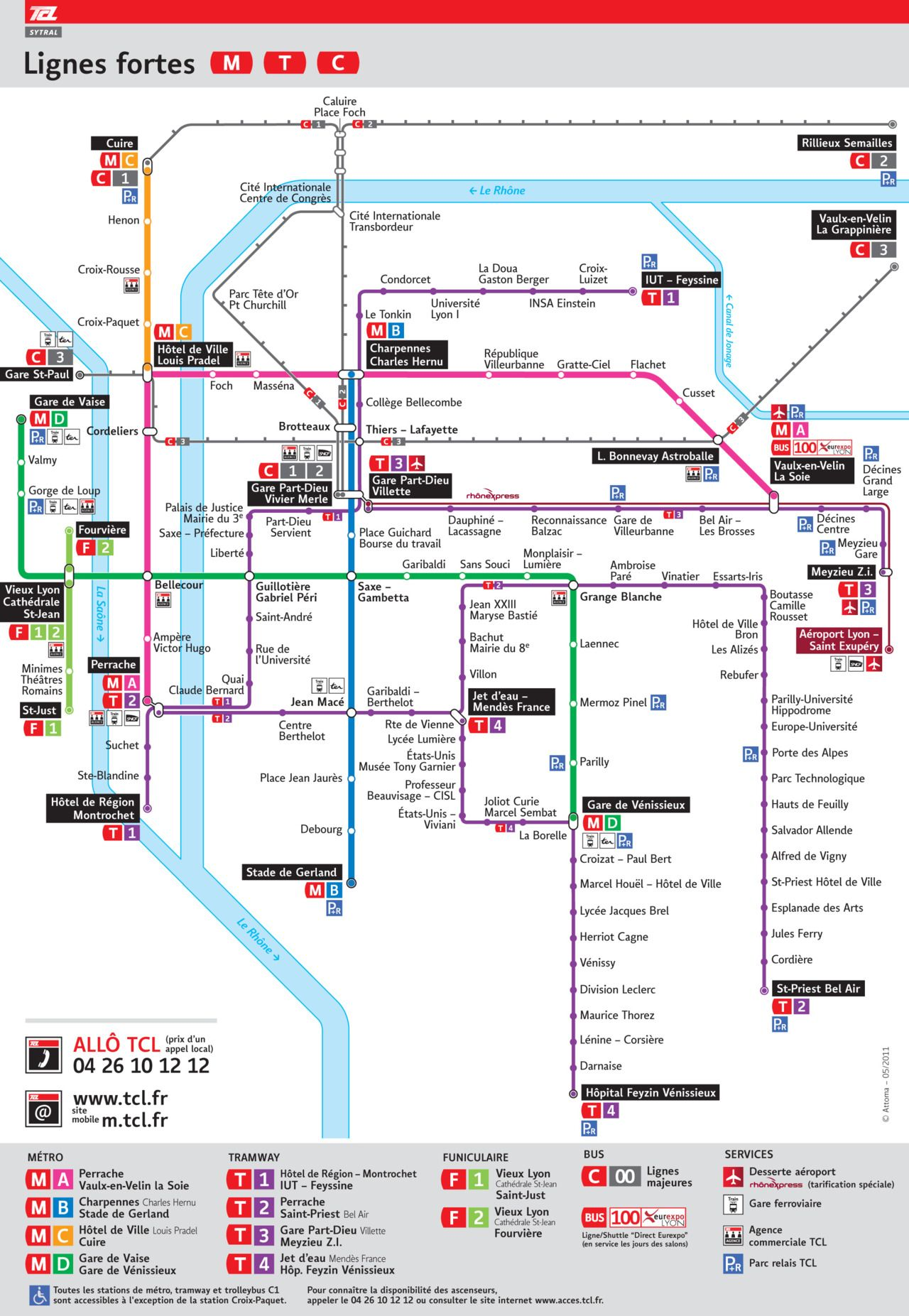 Subway Map Shanghai 2011.Official Map Transports En Commun Lyonnais System Map Lyon France