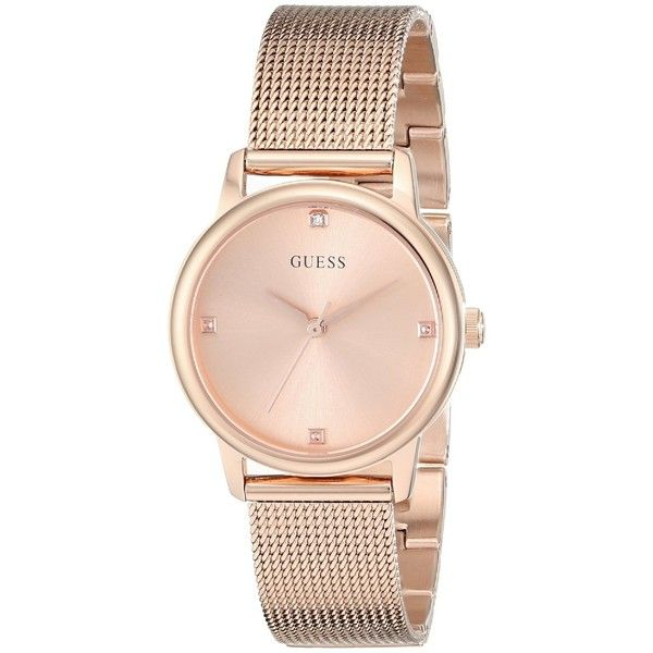 a9aba34be7 Guess 'Classic' Women's U0532L3 Rose Gold Tone Stainless Steel Watch ($106)  ❤ liked on Polyvore featuring jewelry, watches, accessories, bracelets, ...