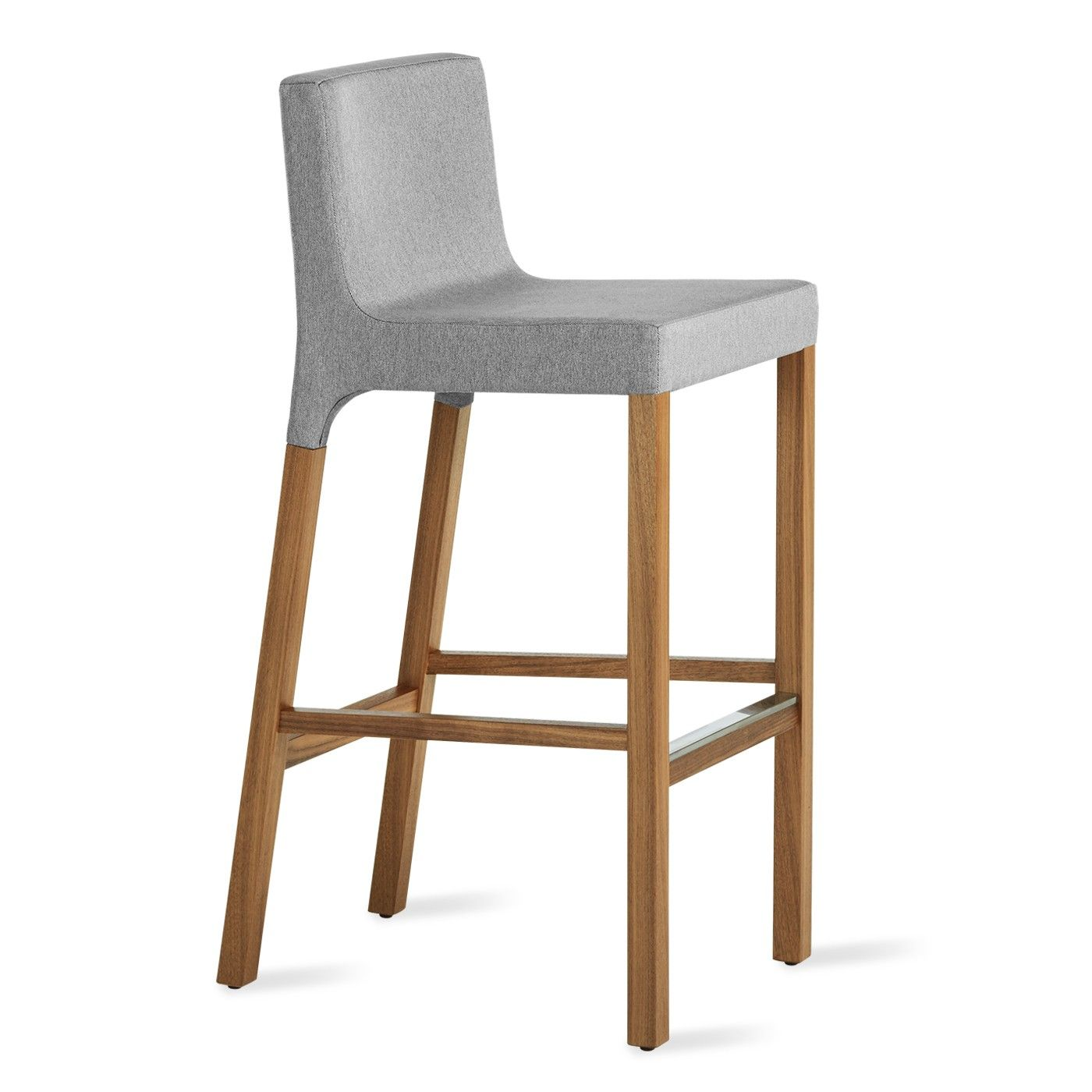 Knicker Modern Bar Stool - Pewter Grey