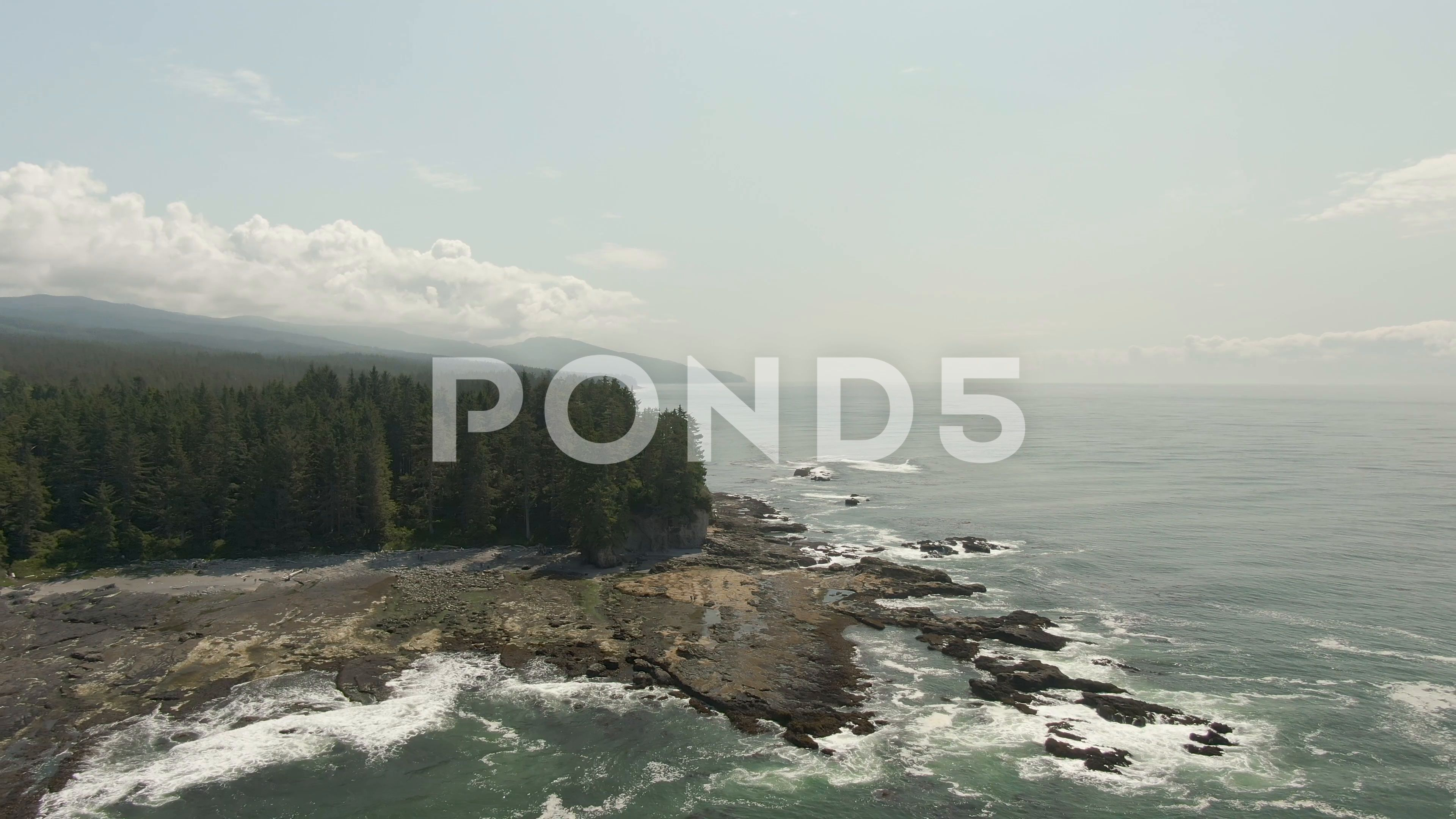 Beautiful Aerial Landscape View Of The Rocky Pacific Ocean Coast In The Stock Footage Ad View Rocky Landscape Beautiful Pacific Ocean Ocean Aerial