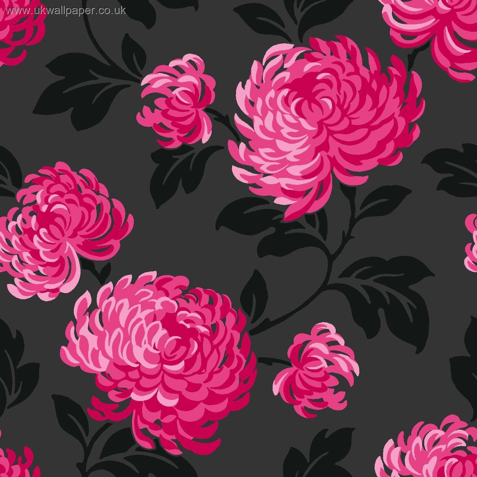 Black and white photos wallpaper 13889 silver black for Pink and silver wallpaper