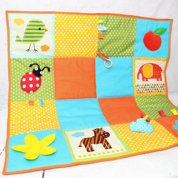 Play Mat,Baby Gym, Baby Activity Mat,Sensory Toys,Organic