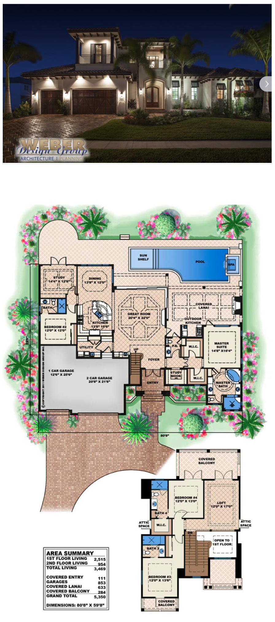 This coastal house plan was designed for