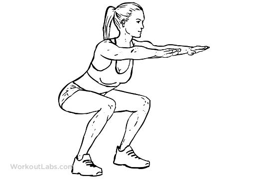 Static Squat Hold Squat Hold Squats Squat Workout