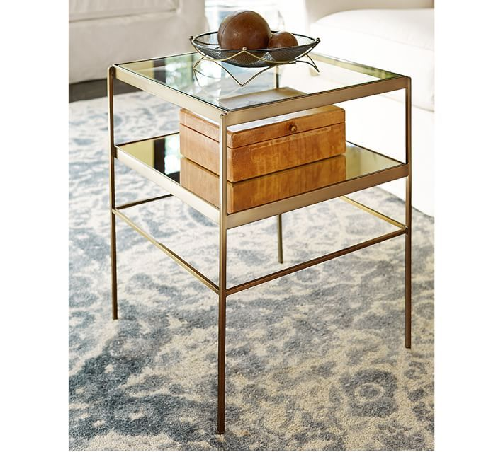 Leona End Table Cube Table Glass Side Tables End Tables