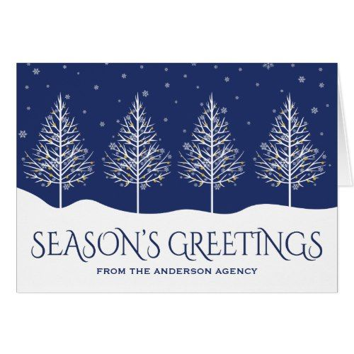 Winter trees corporate business holiday greetings pinterest winter trees corporate business holiday greetings card m4hsunfo