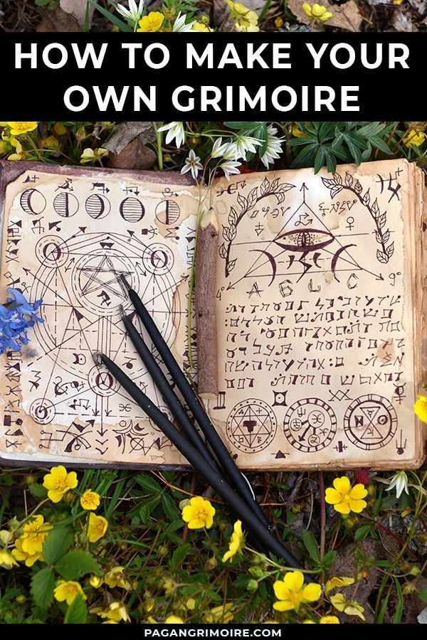 A grimoire is a book of magic spells, instructions on how to create charms, how to use magical tools, and much more. Discover how to make your own. #magic