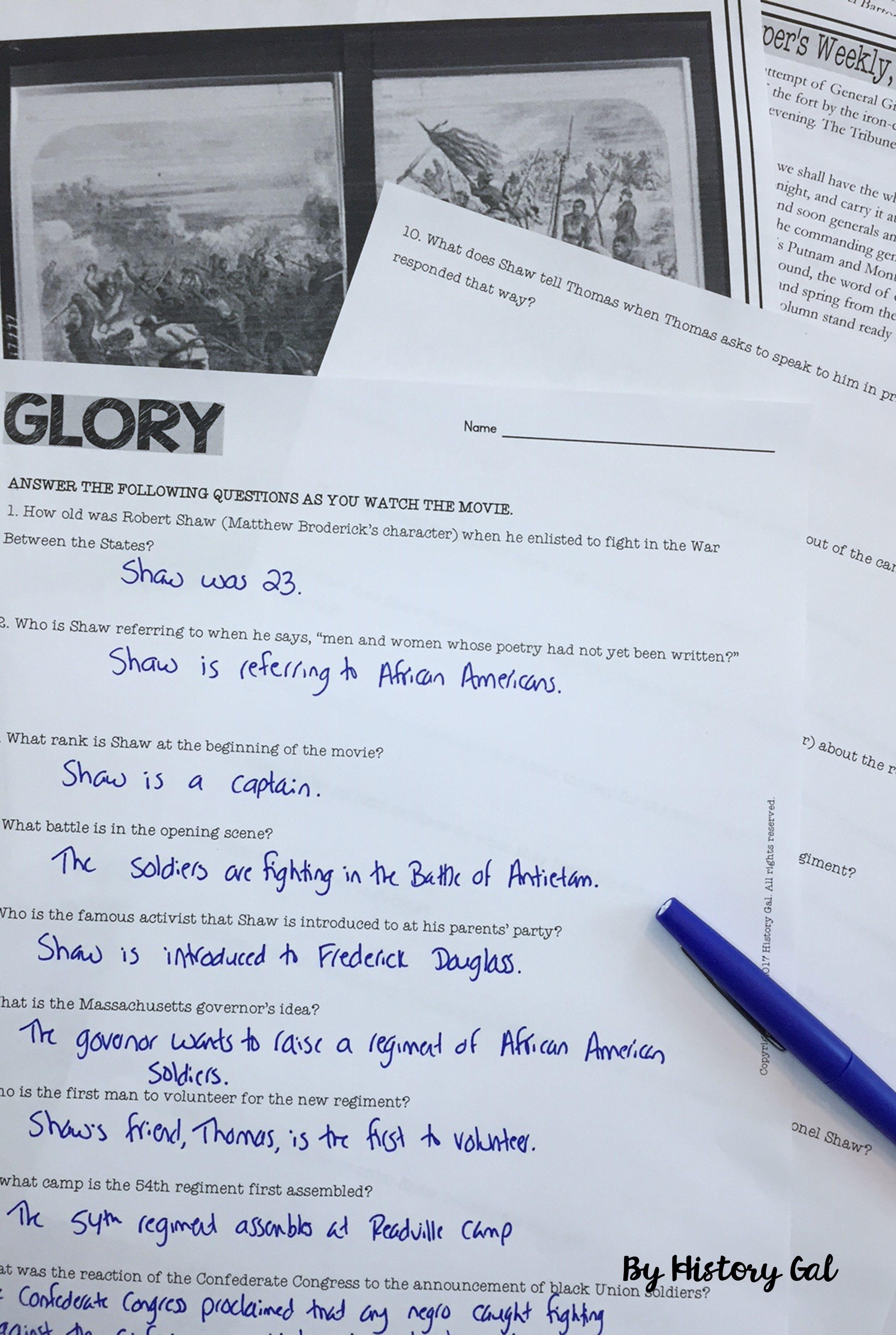 Glory Movie Guide