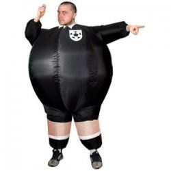 Inflatable Referee Fancy Dress Outfit
