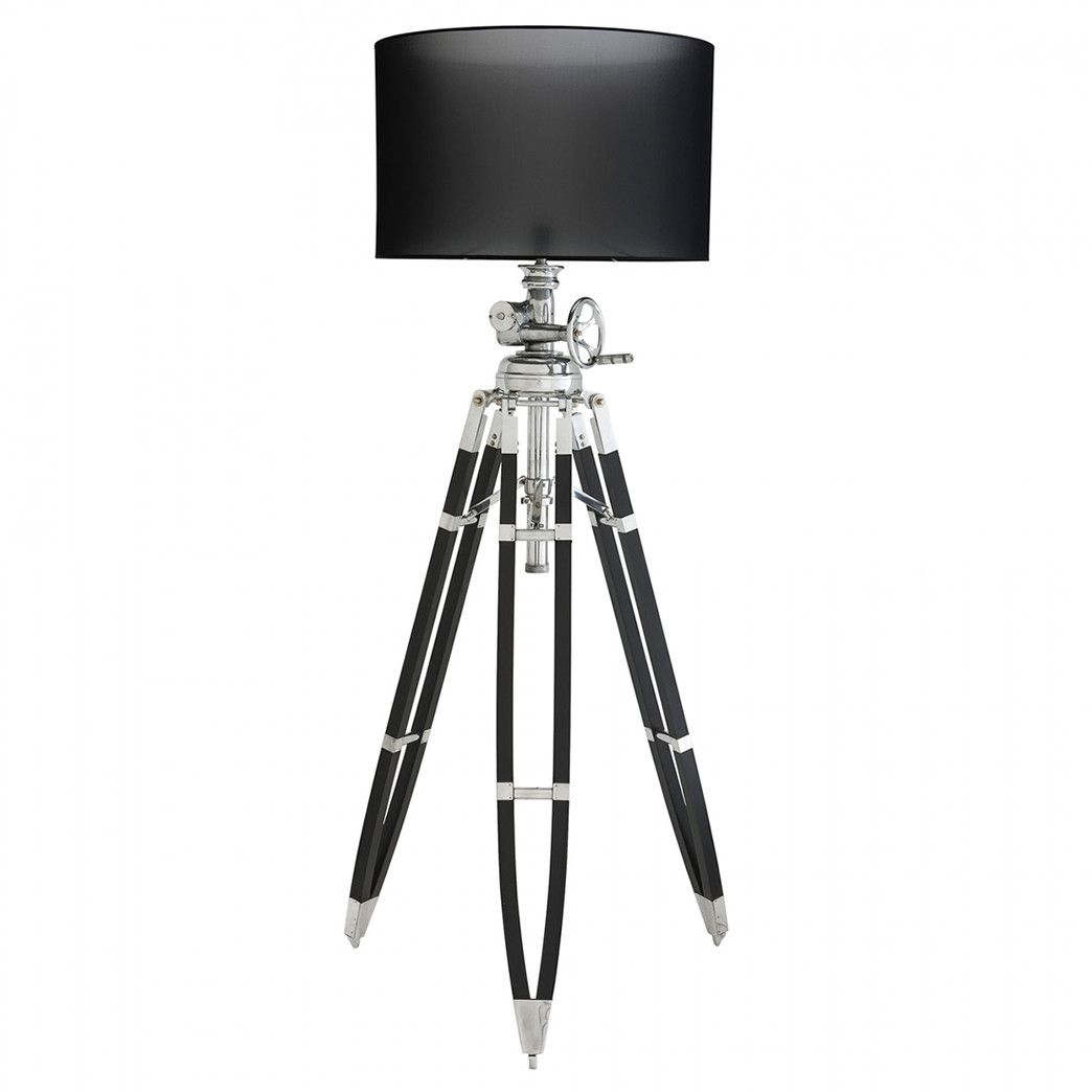 Modern black and silver ceramic pebbles table lamp haysoms - Eichholtz Royal Marine Floor Lamp