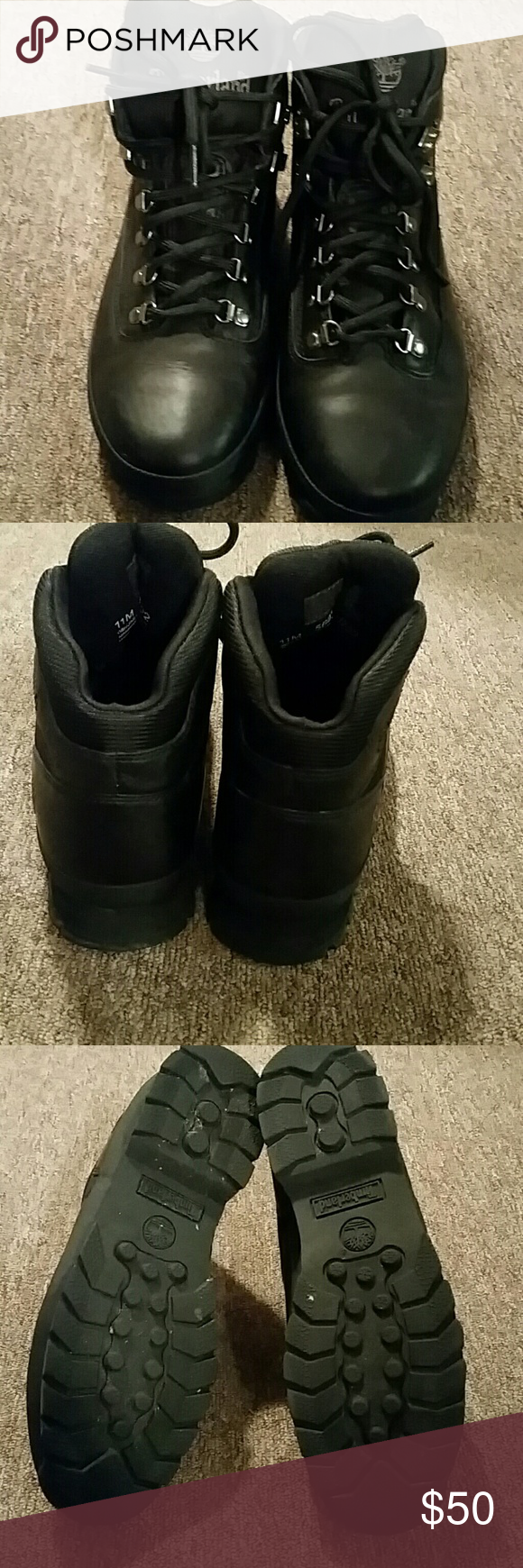 Men's black Timberland boots