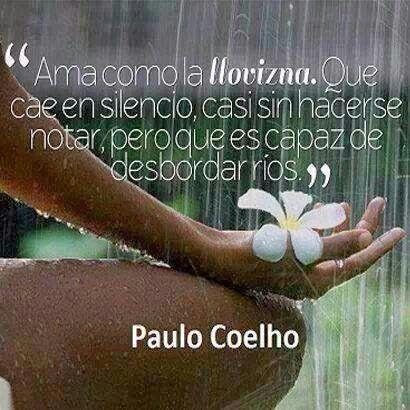 Lluvia Paulo Coelho Lluvia Frases Frases Reflexion Y
