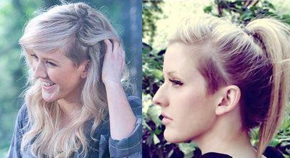 yes shaved girls   half shaved hair ellie goulding