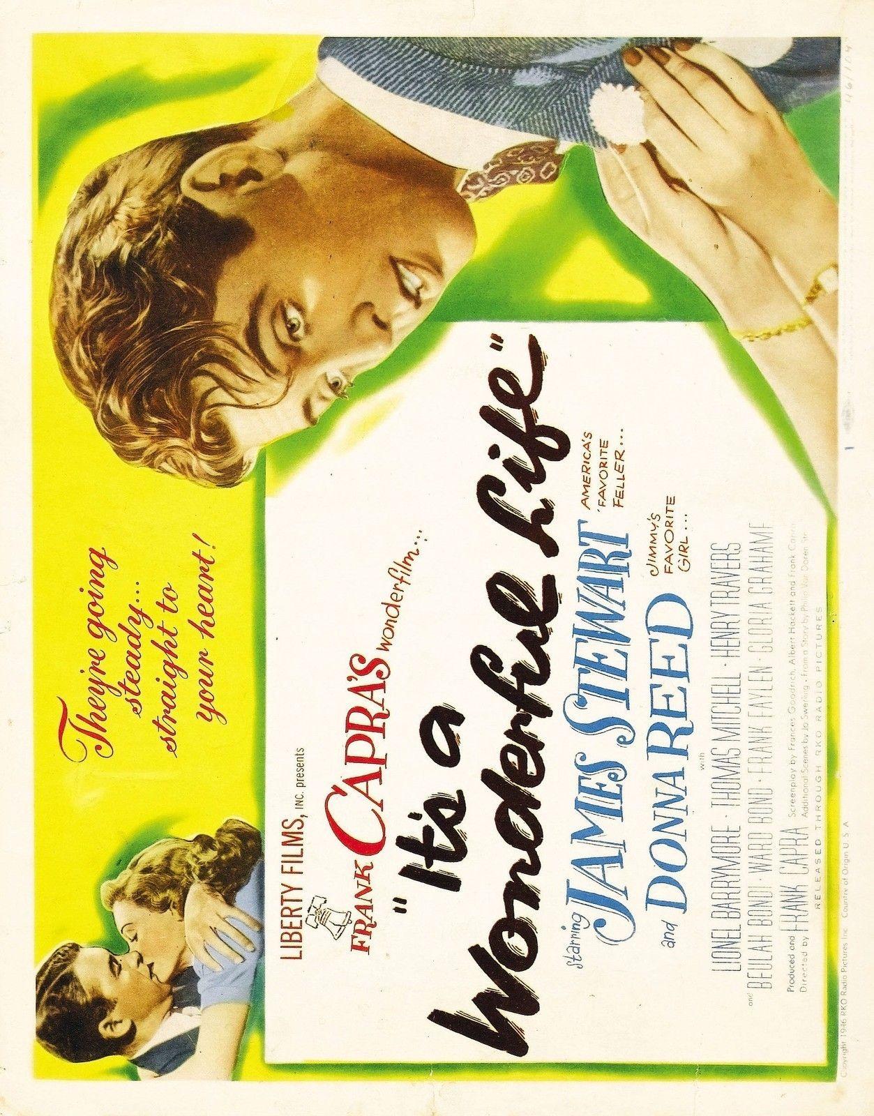 IT'S A WONDERFUL LIFE Movie Poster 1942 Jimmy Stewart