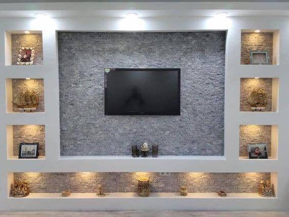 Lovely Tv Wall Unit Unique Setup Ideas To See More Visit Living Room Design Modern Tv Room Design Tv Wall Design