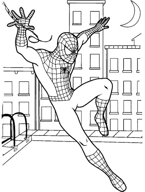 540 Coloring Pages With Spiderman , Free HD Download