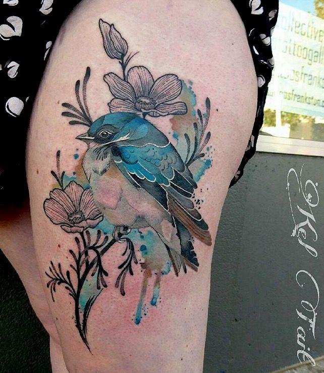 Kel Tait Bird Tattoo With Images Birds Tattoo Watercolor Bird Tattoo Wings Tattoo