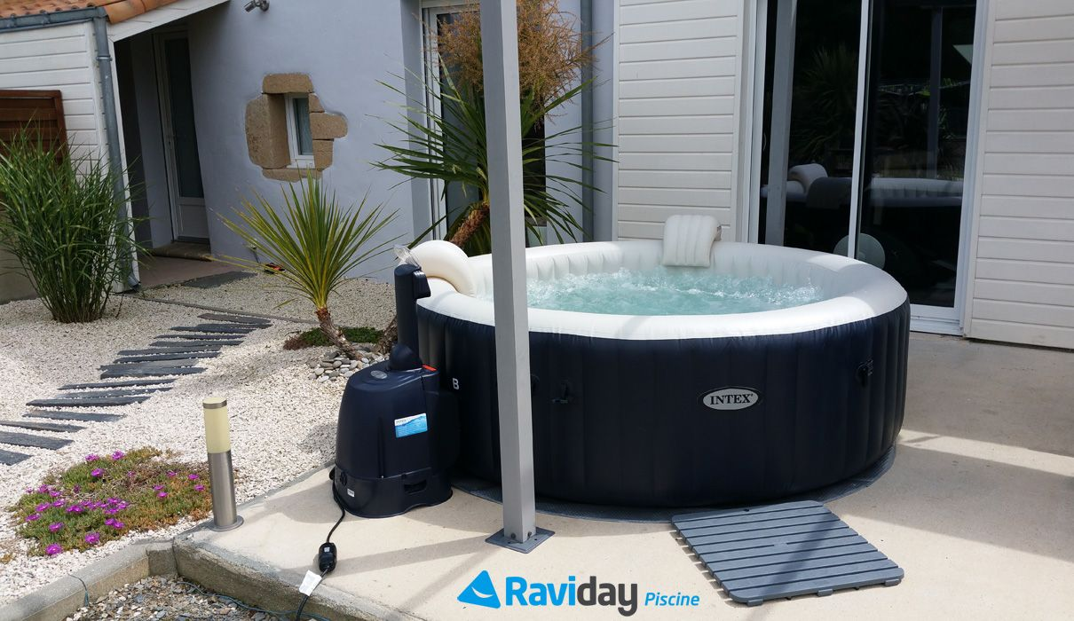 Installer Spa Gonflable Exterieur shooting photo du spa gonflable 6 places intex pure spa plus