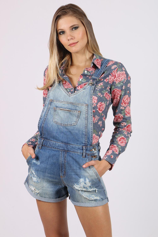 6c242be59 Jardineira Colcci Jeans Jaque - BabadoTop Mais | Modelos