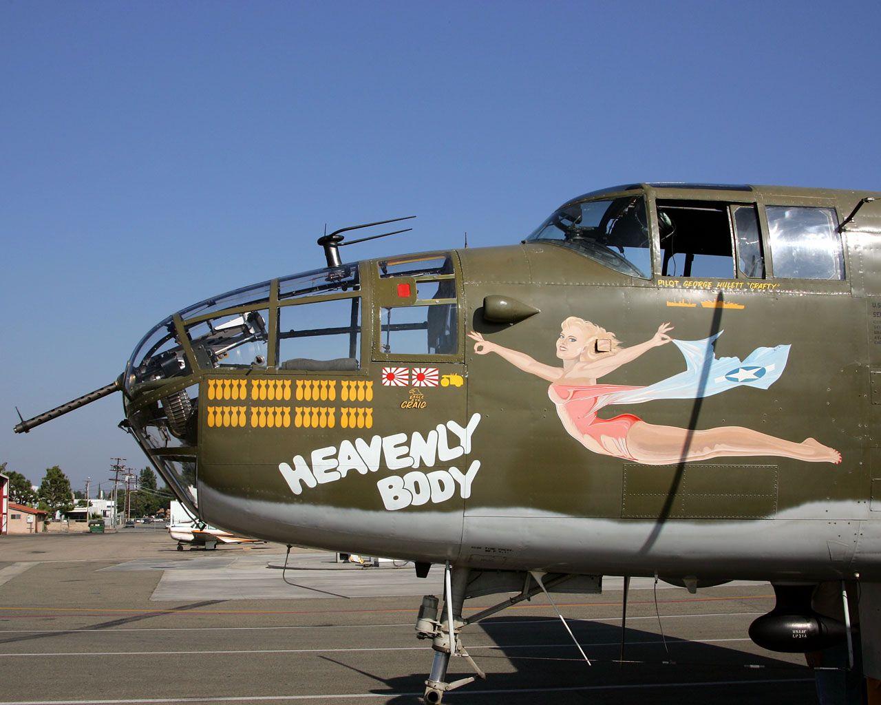 "B25 Mitchell Bomber, ""Heavenly..."