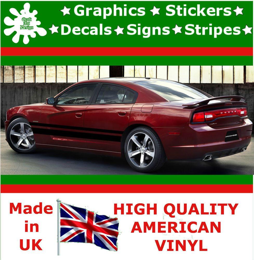 Car design sticker rally - 11 Racing Stripes Sticker Vinyl Decal Art Car Auto Rally Graphics Viper Ds14_11