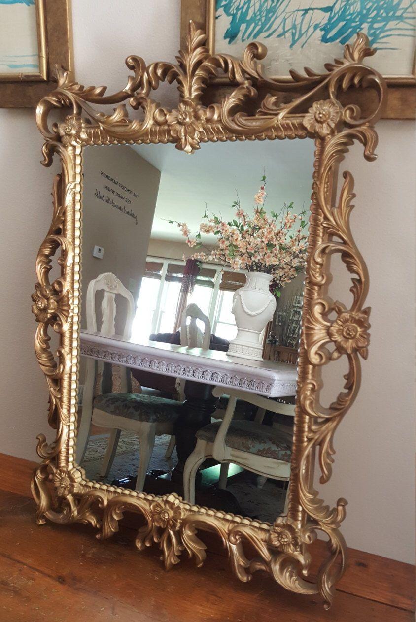 Vintage Mirror Turner Wall Accessory Elegant Mirror Gold Glided Mirror French Royal Mirror Hanging Mirror Wall Mirror Wedding Wall Accessories Elegant Mirrors Vintage Mirror