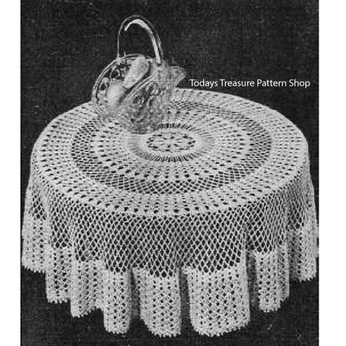 Round Crocheted Tablecloth Designs Takes Us Back To The Workbasket