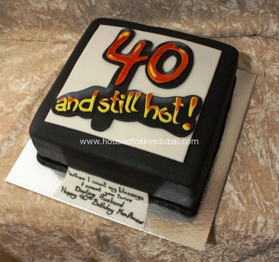 Image Result For Hot At 40 Cake