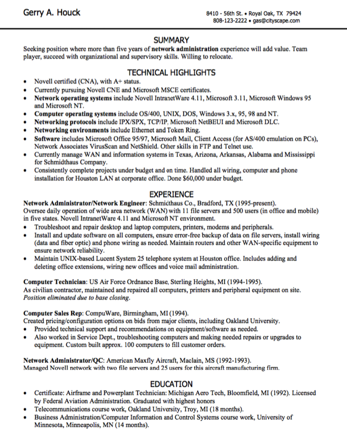 Administrator Resume Sample Network Administration Resume Sample  Httpexampleresumecv .
