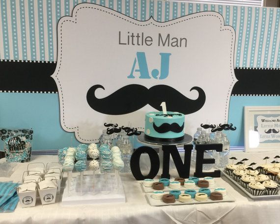 Personalised Printable ONLY Poster Signage Party Banner Little Man Backdrop Birthday Backdrop