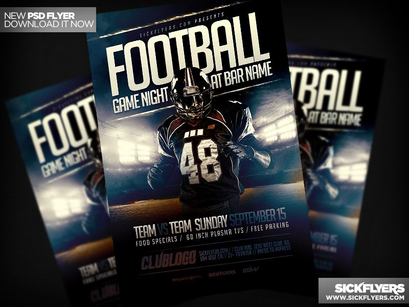 Football Game Flyer Template PSD Flyer template and Template - football flyer template