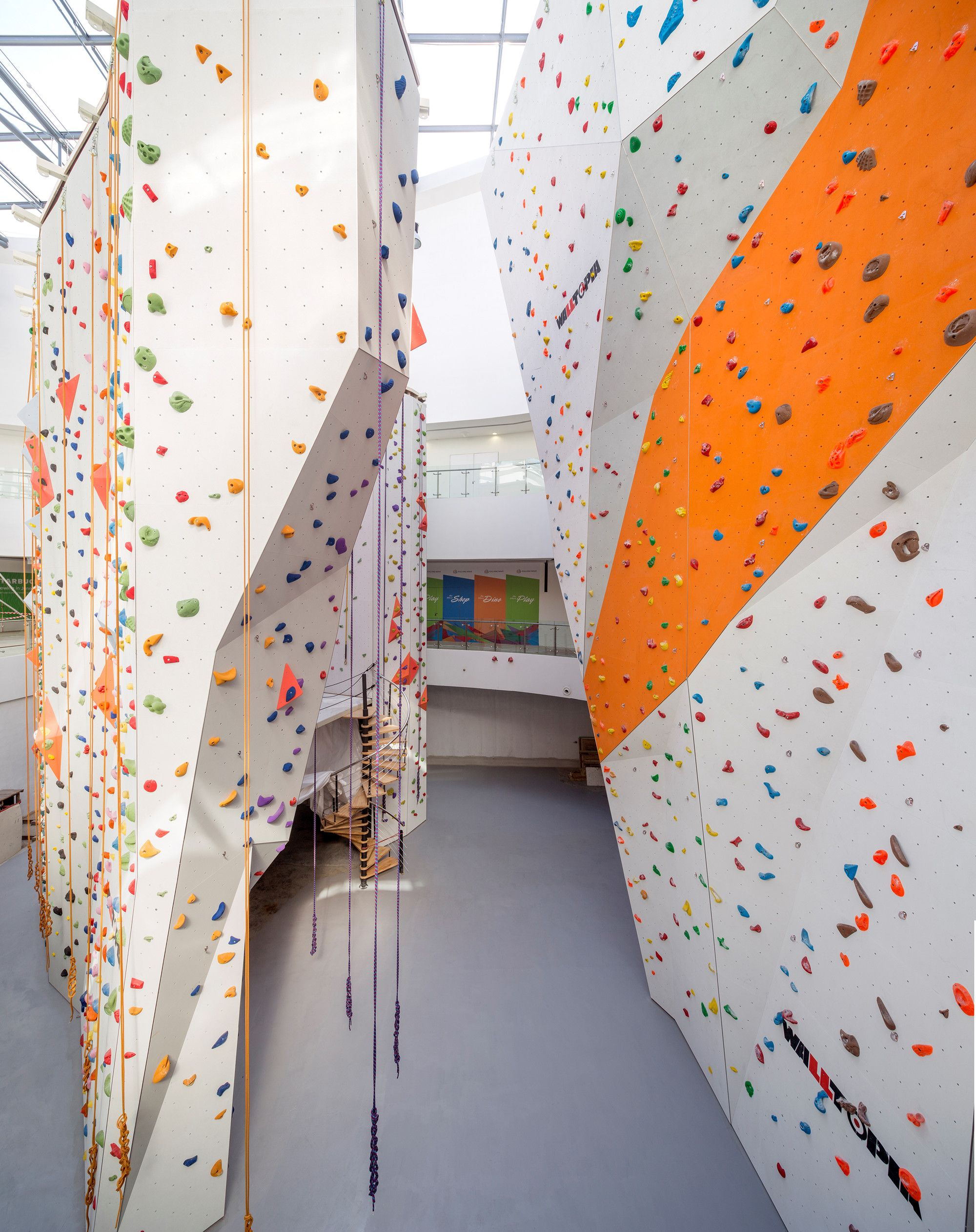 Gallery Of Singapore Sportshub Dparchitects 1 Climbing Hall Gym Interior Retail Space Design