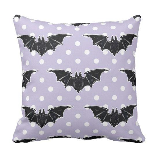 Pastel Goth Spooky Cute Throw Pillow Bats Kawaii Zazzle Ca Goth Home Decor Pillow Batting Throw Pillows