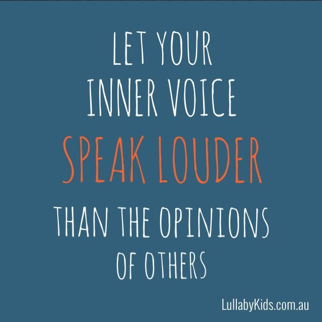 Positive Self Esteem Quotes: Self Esteem Quotes 'let Your Inner Voice Speak Louder Than