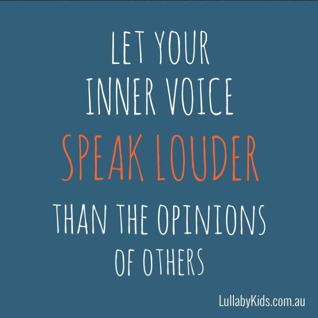 Positive Self Esteem Quotes: Self Esteem Quotes 'let Your Inner Voice Speak Louder Than