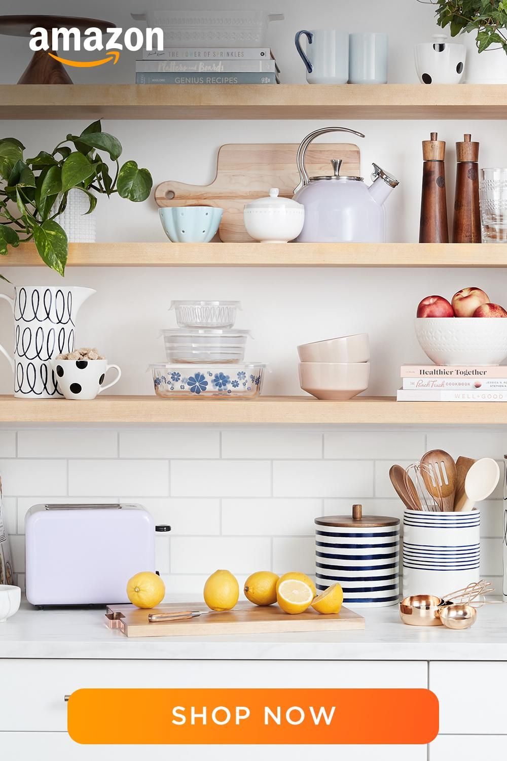 Shop A Wide Selection Of Storage And Organization Products On Amazon Com In 2020 Open Kitchen Shelves Decor Kitchen Shelf Decor Kitchen Counter Decor