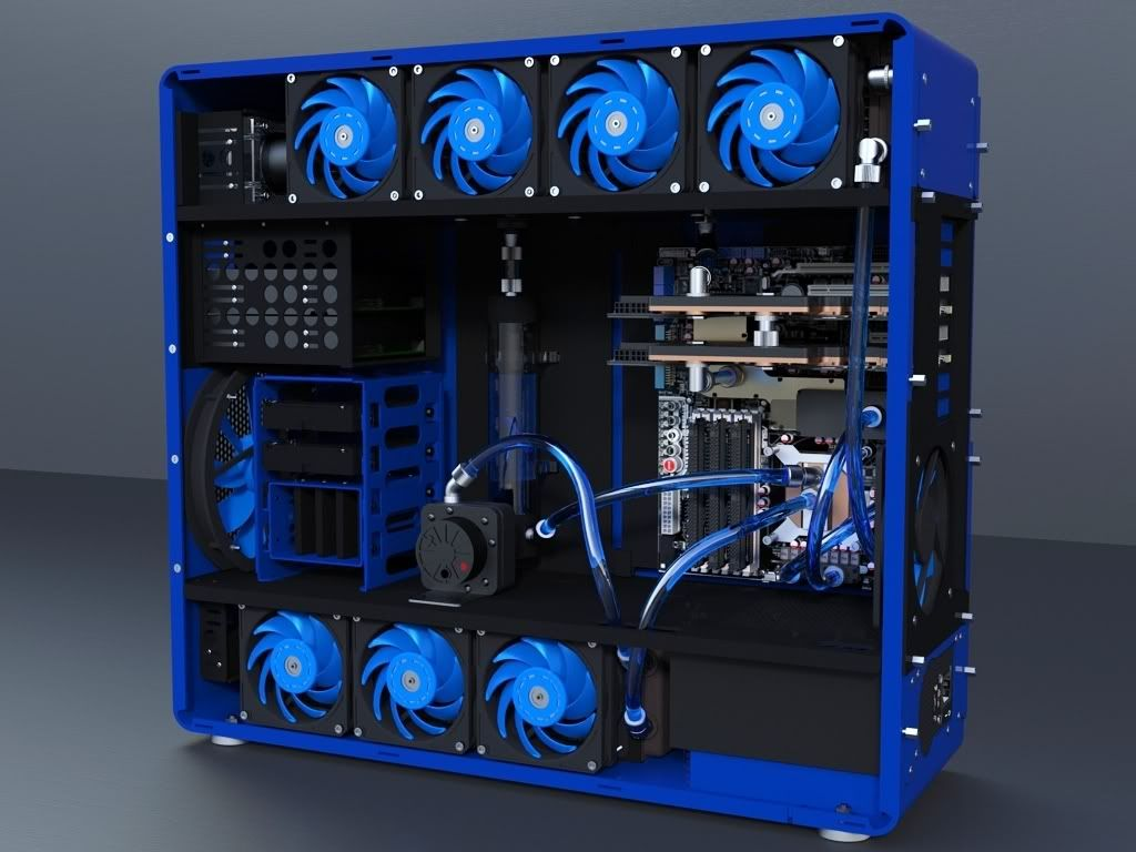 Liquid Cooling Case Design Custom Gaming Computer Computer