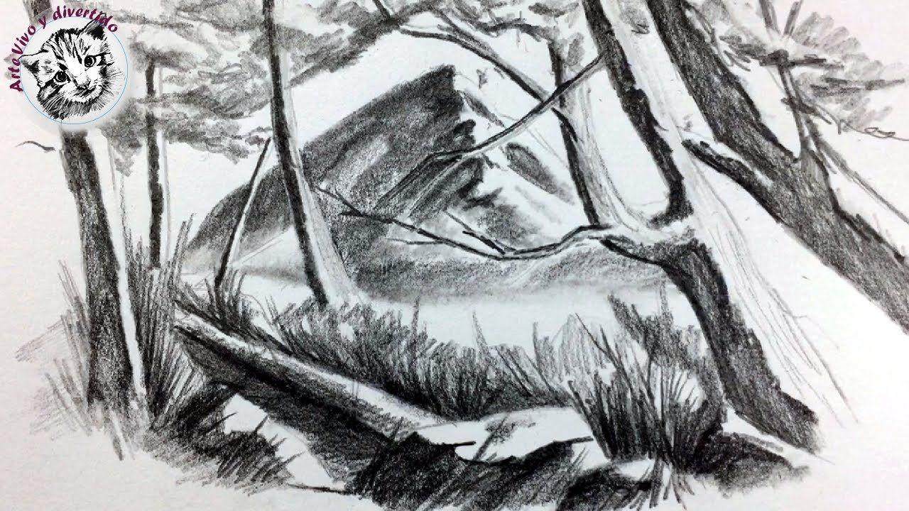 Como Dibujar Un Paisaje De Montana Con Lapiz Muy Facil Paisajes Dibujos Como Dibujar Montanas Paisaje De Montana
