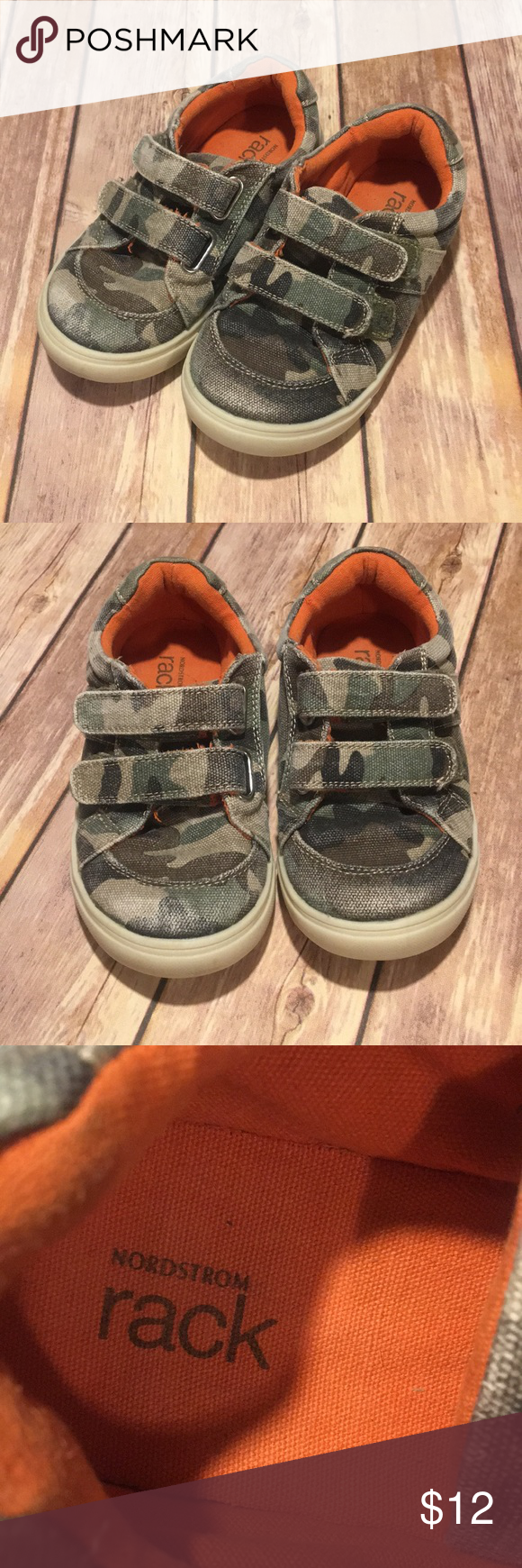 d04040f2f42bf Nordstrom Rack Velcro Camouflage Boys Shoes Nordstrom Rack Boys Shoes!  Super cute, camo size 12 shoes. Worn and loved but they still look good and  have lots ...