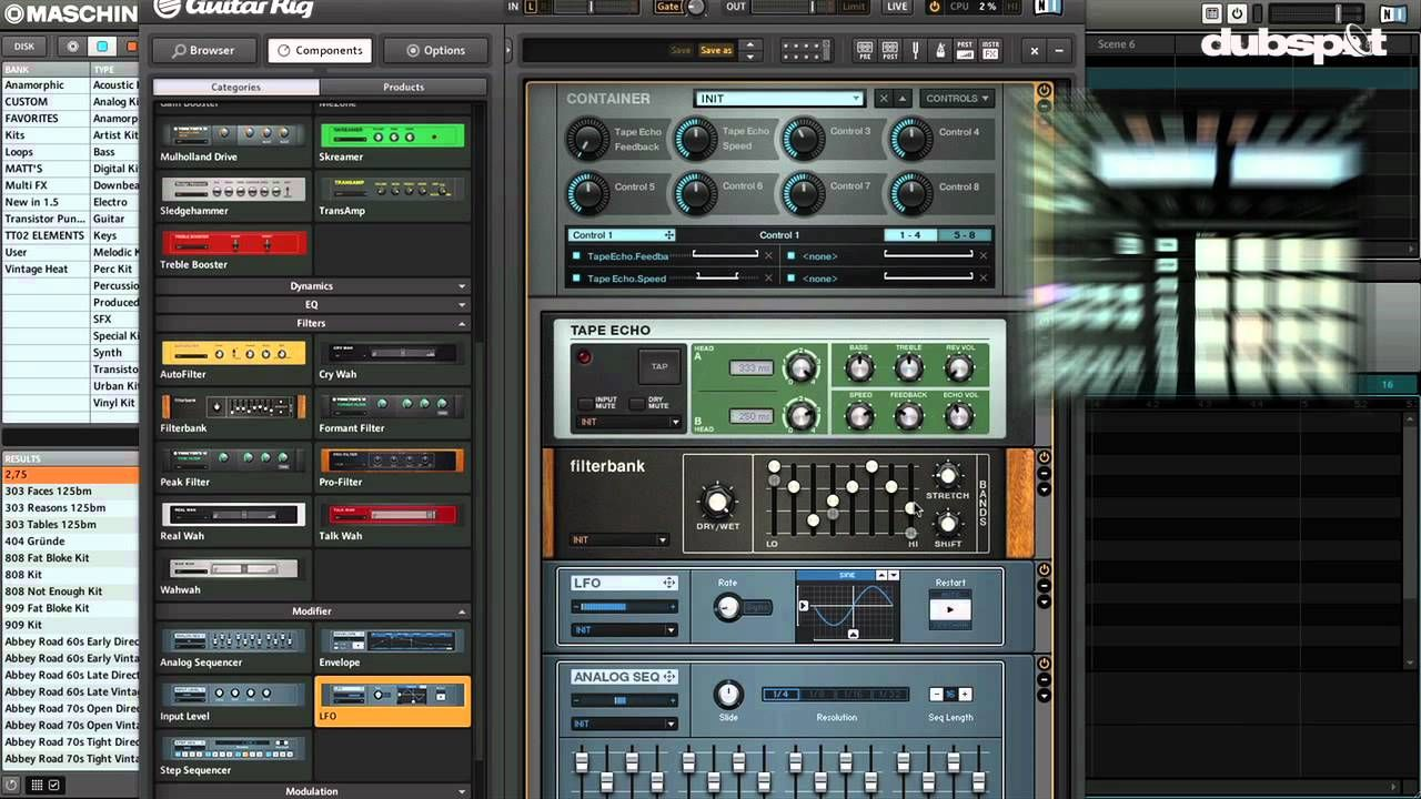 Sound Design W Guitar Rig 5 Maschine New Effects Container Ni Komplete 8 Tutorial Guitar Rig Sound Design Native Instruments