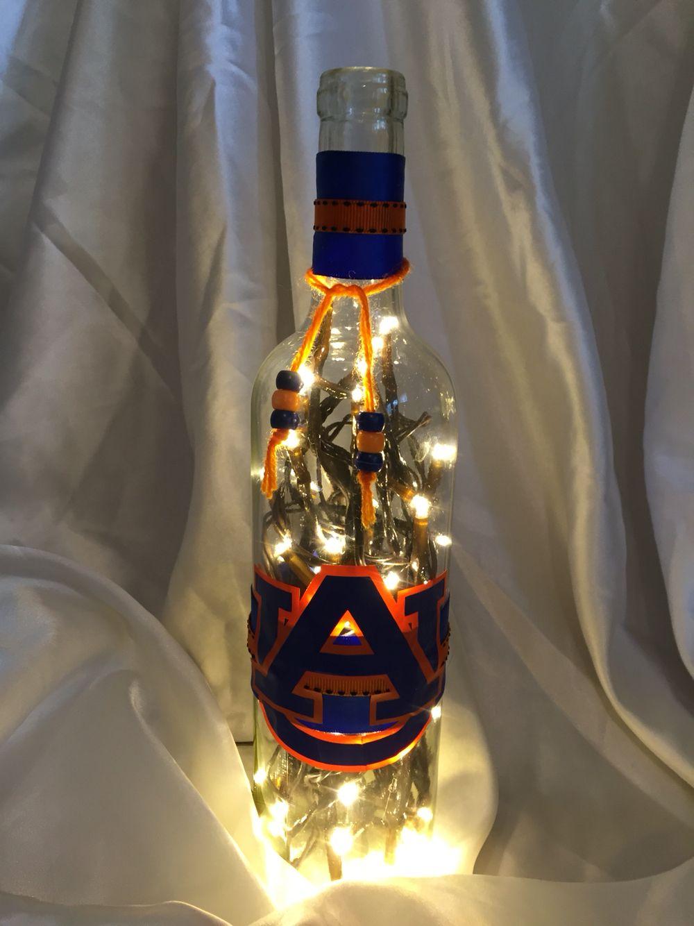 Auburn lighted wine bottle