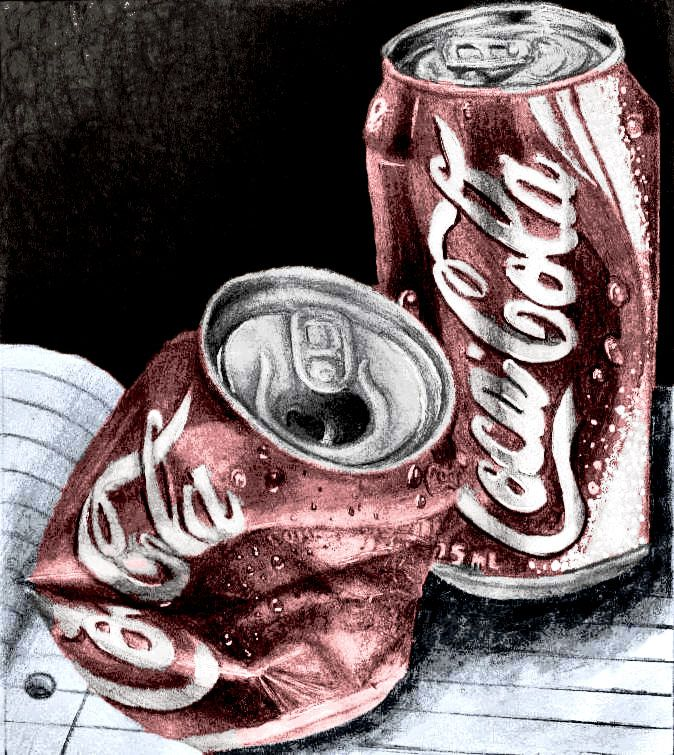 Coca Cola - Coke cans drawing by Kimberleyelrebmik on DeviantArt