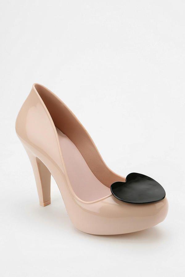 mel by melissa shoes raspberry heart jelly heels for women 83109